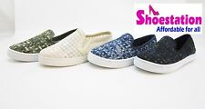 Womens Fashion Sneaker Shoe Skater Trainer Round Toe Slip On Flat Comfort Casual