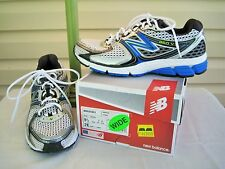 New Balance Mens White Mesh with Silver & Blue Trim Sneaker - NEW IN BOX