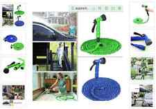 Latex 50 75 100 FT Expanding Flexible Garden Water Hose with Spray Nozzle
