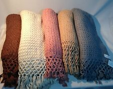 Himalaya Trading Co. CROCHET 100% Cashmere Luxury Throw