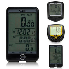 Wireless Waterproof Bike Bicycle LCD Cycling Computer Odometer Speedometer