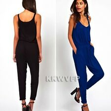 2015 Sexy Women Casual Summer Slim Long Pants Overalls Jumpsuit Rompers Playsuit