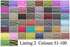 Paracord 550 100' 100 Foot CHOOSE FROM 270 COLOURS! GENUINE 7 STRAND PARACORD! 2