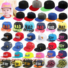 NEW Baby Boy Girl Kids Hat Hip-hop Peaked Visor Snapback Adjustable Baseball Cap