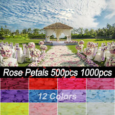 500/1000 Artificial Silk Rose Flower Petal Celebrate Engagement Wedding Decorate