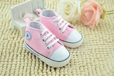 HOT Toddle Infant baby girl pink soft-soled crib shoes sneaker size 0-18 months