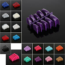 Hot 100pcs French Acrylic False Nail Art Half Tips Salon Art UV Gel -  Choose