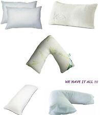 VARIETY/TYPES OF PILLOWS GOOSE/DUCK FEATHER, V-PILLOW ANTI-SNORE BOLSTER COTTON