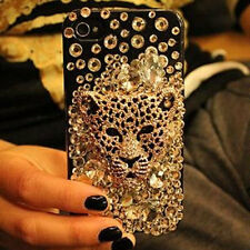 Charms Bling Tiger Head Diamonds Gems Crystals Hard Case Cover For Mobile Phones