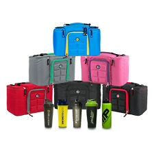 6 Pack Innovator 300 Series Bags Fitness Bag Meal Management Bag with Shaker