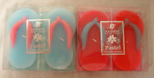 Ambria Floating Candles  pair of Flip Fops Sandals Pink & Blue 12cm CLEARANCE