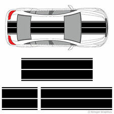 Chevy Cruze Dual Rally Racing Stripes 3M Vinyl Double Stripe Decals