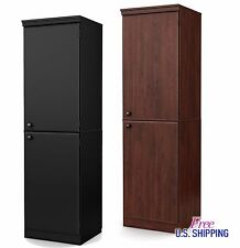 Tall Storage Cabinet Pantry Cupboard Organizer Wooden Bathroom Office Laundry