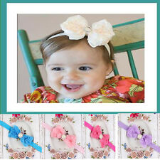 Baby Girl Kid Pearl Headband Rose Bow Lace Flower Elastic Hairband Cute