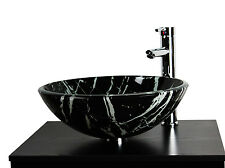 Stylish Design Bathroom Cloakroom Countertop Glass Basin Sink CP8. 42cm x 14cm