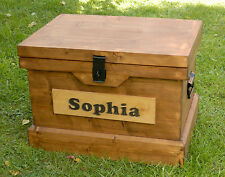 Handmade Wooden Toy Box Childrens Name Storage Chest / Seat - Personalised Gift