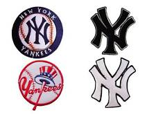 New MLB New York Yankees Logo Baseball embroidered iron on patch.