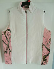 Women's Northcrest Realtree White & Pink Camo Quilted Vest 2 Pockets NWT
