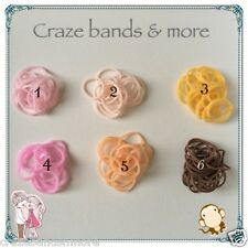 High Quality Mix 6 Skin Color Light Pink Tan Yellow Brown Rubber Bands fit LOOM
