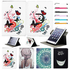"""360 Rotating Universal Leather Case Cover for 9.7"""" ~10.1"""" inch Tablet PC W/Pen"""