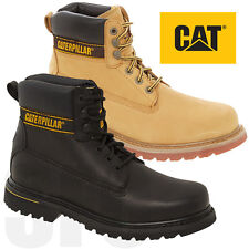 Caterpillar Mens Real Leather Nubuck Boots Casual Ankle Combat Shoes Lace Up