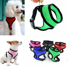 Pet Dog Doggie Puppy Chihuahua Soft Mesh Vest Harness Black Blue Red XS/S/M/L/XL