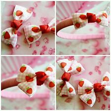 Strawberry Fields Hair Accessories Headband Hair Clips or Hair Ties Girls