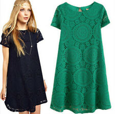 Fashion Sexy Summer Mini Lace Dress Cocktail Evening New Chiffon