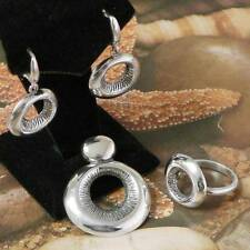 STERLING SILVER SOLID.925 SET -PENDANT, RING, EARRINGS.ALL SIZES AVAILABLE