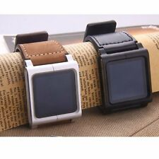Leather Multi-Touch Wrist Strap Watch Band Case For iPod Nano 6th 6g Generation