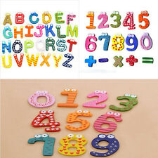 New Hot Kids Baby Educational Numbers/Letters Wooden Fridge Magnetic Sticker Toy