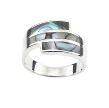 ABALONE PAUA SHELL & 925 STERLING SILVER RING