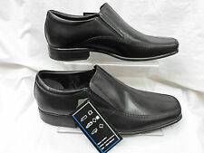 MENS BLACK PSL LEATHER SMART FORMAL EVENING  SLIP-ON SHOES 6-11 2093