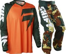 Shift NEW 2016 Mx Recon Camo Orange Green Motocross Dirt Bike Off Road Gear Set