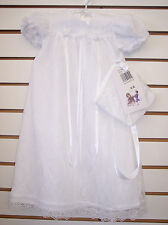 Infant Girls White Christening Gown Size 0/3 Months - 18 Months