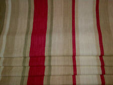 Made to measure Laura Ashley Roman blind Awning stripe raspberry lichen