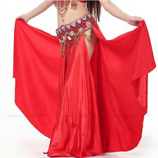 New Belly Dance Costume satin Material Sex Dress Skirt Performance 12 colors