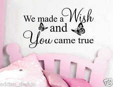 WE MADE A WISH vinyl Wall Sticker, Wall Art, Kitchen, Dining Room Decal