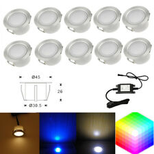 Pack of 10 LED Deck Light Outdoor Stairs Step Ground Garden Lamp Stainless Steel