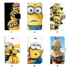 Minions Flip Wallet Case Cover for iPhone 6 6 Plus 5 5S 5C 4 4S