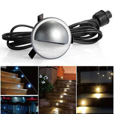 10x 35mm Single Moon LED Deck Spot Lights Yard Patio Outdoor Garden Stairs Lamps