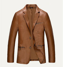 Spring 2015 new men fashion leisure suit collar motorcycle leather jacket