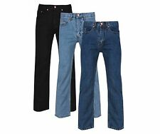 "NEW MENS REGULAR FIT STRAIGHT LEG JEANS SIZES 30""-50"" WAIST"