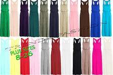 WOMENS NEW TOGA LADIES PUFF BALL  MAXI RACER BACK PARTY DRESS PLUS SIZES 8 - 26