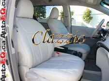TOYOTA SIENNA 7 PASSENGERS 2011-2014 | CLAZZIO LEATHER SEAT COVER (1+2+3 ROWS)