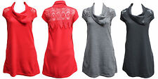 Quelque by FILO Wool Blend Fleece Tunic with Lace Detail SIZES 8 10 12 14 16 18