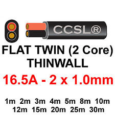 12v/24v AUTOMOTIVE 2 CORE FLAT TWIN THINWALL CABLE 1mm 16.5A Power Battery Auto