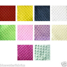 "Ten Colors Minky Dimple Raised Dot Soft Fabric 60"" Wide, By The Yard"