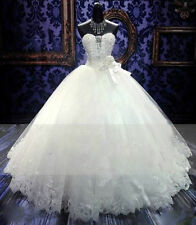 2016 New White/Ivory Wedding Dress Bridal Gown Ball Size 6 8 10 12 14 16+ Custom