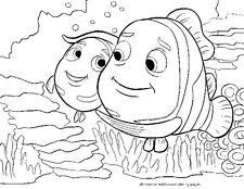 FINDING NEMO Kid's Coloring Poster w/ Child's Name Coloring Page #01